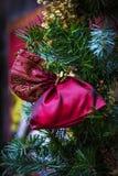 Kerstmis eerlijk centrum van München met Nieuwjaren en herinneringen voor de ingezetenen van de toeristenstad stock fotografie