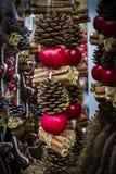 Kerstmis eerlijk centrum van München met Nieuwjaren en herinneringen voor de ingezetenen van de toeristenstad stock foto