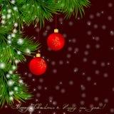 Kerstmis en de Gelukkige achtergrond van het Nieuwjaar Royalty-vrije Stock Foto's