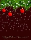 Kerstmis en de Gelukkige achtergrond van het Nieuwjaar Royalty-vrije Stock Fotografie