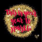 Kerstmis en de Gelukkige van de de vakantiehand van de Nieuwjaargroet van letters voorziende kaart Royalty-vrije Stock Foto