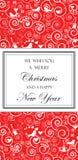 Kerstmis en de Kaart van Nieuwjaren Stock Foto's