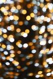 Kerstmis en de nieuwe achtergrond van jaar bokeh lichten stock afbeeldingen