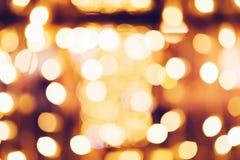 Kerstmis en de Nieuwe decoratie van de jaarstraatlantaarn bokeh Royalty-vrije Stock Afbeeldingen