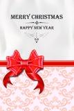 Kerstmis en de nieuwe kaart van de jaargroet Royalty-vrije Stock Foto's