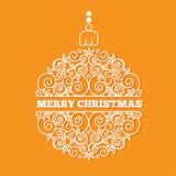 Kerstmis en de nieuwe kaart van de jaargroet Stock Afbeeldingen