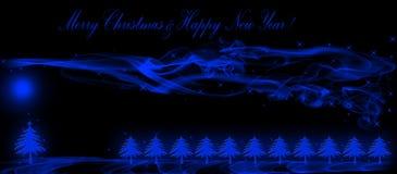 Kerstmis en de nieuwe kaart van de jaargroet Royalty-vrije Stock Fotografie