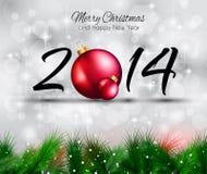 2014 Kerstmis en de Nieuwe Kleurrijke Achtergrond van Yaer Royalty-vrije Stock Foto