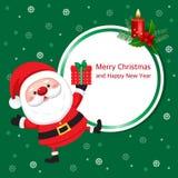 Kerstmis en de Nieuwjaarskaart van de groet stock illustratie