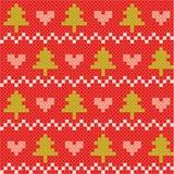 Kerstmis en de winter naadloze achtergrond Stock Fotografie