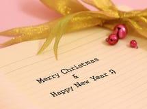 Kerstmis en gelukkig nieuw jaar Stock Afbeelding