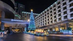 Kerstmis en Gelukkig Nieuwjaar 2015 decoratielichten Stock Foto