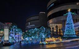 Kerstmis en Gelukkig Nieuwjaar 2015 decoratielichten Royalty-vrije Stock Foto's