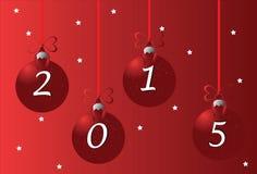 Kerstmis en gelukkige 2015 Stock Afbeeldingen