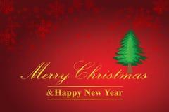 Kerstmis en Gelukkige Nieuwjaarachtergrond Royalty-vrije Stock Afbeeldingen