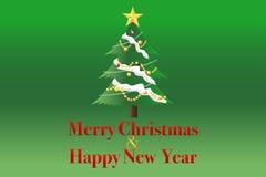 Kerstmis en Gelukkige Nieuwjaarachtergrond Royalty-vrije Stock Foto's