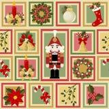 Kerstmis en het naadloze patroon van Nieuwjaren Stock Foto's