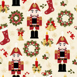 Kerstmis en het naadloze patroon van Nieuwjaren Stock Afbeelding