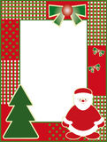 Kerstmis en het nieuwe frame van de jarenfoto Stock Foto