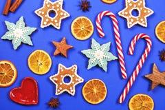 Kerstmis en het nieuwe kader van de jaarvakantie Stock Fotografie