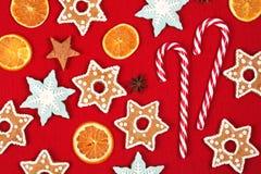 Kerstmis en het nieuwe kader van de jaarvakantie Stock Foto