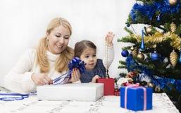 Kerstmis en het Nieuwjaar stellen voor Stock Afbeeldingen