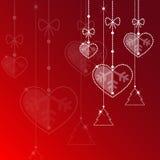 Kerstmis en liefde Stock Foto's