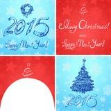 Kerstmis en nieuw jaar 2015 Stock Afbeeldingen