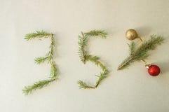 Kerstmis en nieuw jaar speciale 35% van de verkoop van de kortingsbevordering Royalty-vrije Stock Fotografie