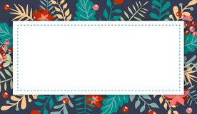 Kerstmis en nieuw jaarelement, affiche voor uw ontwerp royalty-vrije illustratie