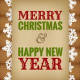 Kerstmis en nieuw jaarontwerp Stock Foto's