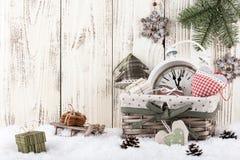 Kerstmis en nieuw jaarstilleven Stock Afbeeldingen