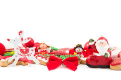 Kerstmis en Nieuwe jaar als thema gehade decoratie Royalty-vrije Stock Afbeeldingen