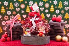 Kerstmis en Nieuwe jaar als thema gehade decoratie Stock Foto's