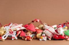 Kerstmis en Nieuwe jaar als thema gehade decoratie Stock Afbeeldingen