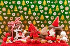 Kerstmis en Nieuwe jaar als thema gehade decoratie Royalty-vrije Stock Afbeelding