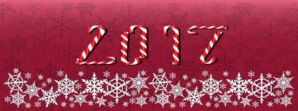Kerstmis en nieuwe jaar donkerrode banner Royalty-vrije Stock Foto