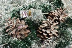 Kerstmis en nieuwe jaardecoratie Stock Foto's