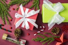 Kerstmis en nieuwe jaardecoratie Royalty-vrije Stock Afbeelding
