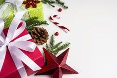 Kerstmis en nieuwe jaardecoratie Stock Fotografie