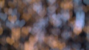 Kerstmis en nieuwe jaardecoratie, abstract vaag bokeh het knipperen gevormd slingerhart stock videobeelden