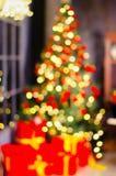 Kerstmis en nieuwe jaardecoratie Snuisterij op Kerstboom Royalty-vrije Stock Afbeelding
