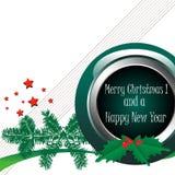 Kerstmis en nieuwe jaargroet Stock Foto's