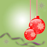 Kerstmis en Nieuwe jaarkaart Vector Illustratie