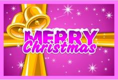 Kerstmis en nieuwe jaarkaart Stock Fotografie