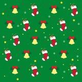 Kerstmis en Nieuwe jaarsymbolen Stock Afbeeldingen