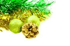 Kerstmis en Nieuwe jaartoebehoren Stock Afbeeldingen