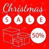 Kerstmis en nieuwe jaarvakantie als thema gehade vector abstracte achtergrond voor kortingsvlieger Royalty-vrije Stock Foto