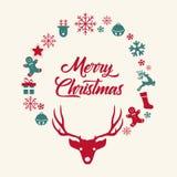 Kerstmis en Nieuwjaar royalty-vrije illustratie