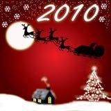 Kerstmis en Nieuwjaar 2010 vector illustratie